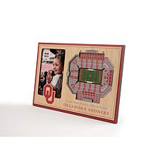 NCAA Oklahoma Sooners 3-D Stadium Views Picture Frame