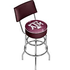 NCAA Padded Bar Stool with Back - Texas A&M University