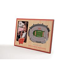 NCAA Wisconsin Badgers 3-D Stadium Views Picture Frame