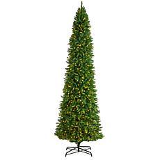 Nearly Natural 12' Slim Green Mountain Pine  Christmas Tree