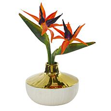 """Nearly Natural 14"""" Faux Bird of Paradise Arrangement in Vase"""