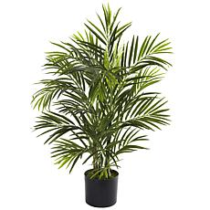 Nearly Natural 2.5 ft. 6-Trunk UV Resistant Areca Palm Tree
