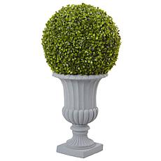 Nearly Natural 2.5 ft. Boxwood Topiary with Urn