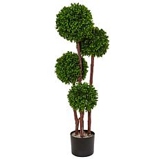 Nearly Natural 3 ft. UV Resistant Boxwood Topiary Tree