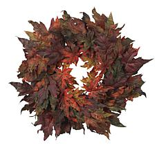 "Nearly Natural 30"" Maple Leaf Wreath"