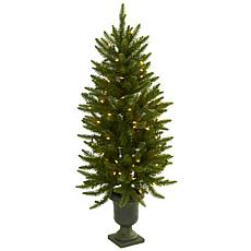 Nearly Natural 4-Ft. Christmas Tree with Urn and Clear Lights