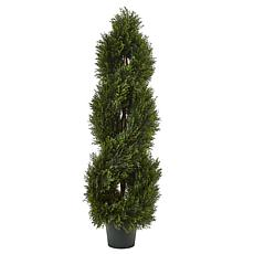 Nearly Natural 4 ft. Pond Cypress Topiary Indoor/Outdoor Plant