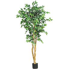 Nearly Natural 5' Ficus Silk Tree