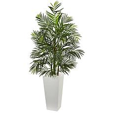 Nearly Natural 5 ft. UV Resistant Areca Palm Tree in Planter