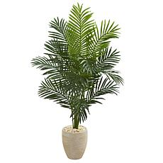Nearly Natural 5.5 ft. Artificial Paradise Palm Tree in Planter