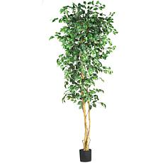 Nearly Natural 7 ft. Ficus Tree with 1,260 Leaves