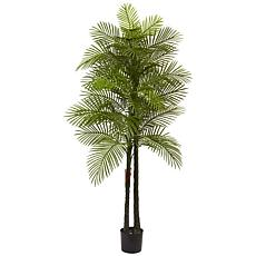 Nearly Natural 7 ft. UV Resistant Double-Stalked Robellini Palm Tree