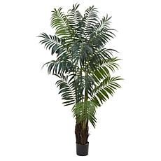 Nearly Natural 7.5 ft. Bulb Areca Palm Tree