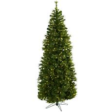 Nearly Natural 7.5-Ft. Cashmere Slim Christmas Tree with Clear Lights