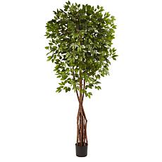 Nearly Natural 7.5 ft. Super Deluxe Ficus Tree with 1,386 Leaves