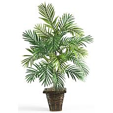 Nearly Natural Areca Palm with Wicker Basket