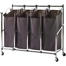 neatfreak EVERFRESH Rolling Easy-Reach Quad Laundry Sorter