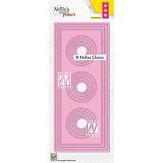Nellie's Choice Multi-frame Die Slimline Circles 1