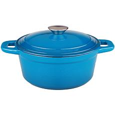 Neo 3-Quart Cast Iron Blue Oval Covered Casserole