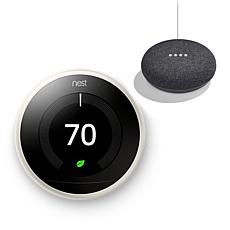 Nest Learning Thermostat with Google Mini Smart Assistant