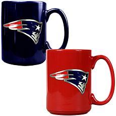 New England Patriots 2pc Coffee Mug Set