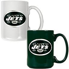 New York Jets 2pc Coffee Mug Set