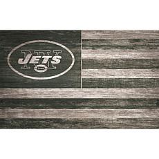 New York Jets Distressed Flag 11x19