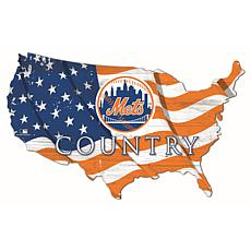New York Mets USA Shape Flag Cutout