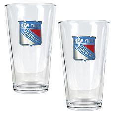 New York Rangers 2pc Pint Ale Glass Set