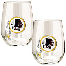 NFL 2-piece Wine Glass Set - Washington Redskins