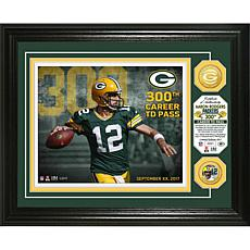 NFL Aaron Rodgers 300th Career Touchdown Pass Commemorative Photo