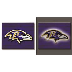 NFL Backlit Wood Plank Wall Sign - Ravens
