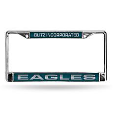 """NFL """"Blitz Inc"""" Laser-Cut License Plate Frame-Eagles"""
