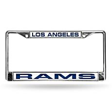 NFL Blue Laser-Cut Chrome License Plate Frame - Rams
