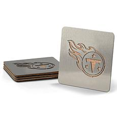 NFL Boasters 4-piece Coaster Set - Tennessee Titans