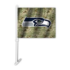 NFL Camo Car Flag - Seahawks