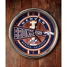 NFL Chrome Clock - Broncos