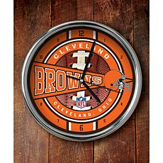 NFL Chrome Clock - Browns
