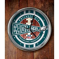 NFL Chrome Clock - Eagles