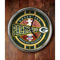 NFL Chrome Clock - Packers