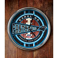 NFL Chrome Clock - Panthers