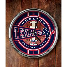 NFL Chrome Clock - Texans