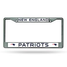 NFL Chrome License Plate Frame - Patriots