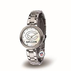 NFL Crystal Charm Watch - Chicago Bears
