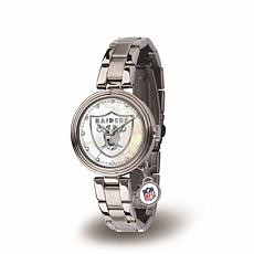 NFL Crystal Charm Watch - Oakland Raiders