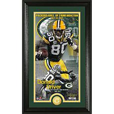 NFL Donald Driver Hall of Fame Supreme Bronze Coin Photo Mint
