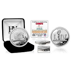 NFL Kansas City Chiefs Super Bowl LIV Champions 99.9% Pure Silver Coin