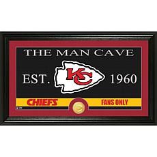 """NFL """"Man Cave"""" Bronze Coin Panoramic Photo Mint-Chiefs"""