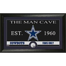 "NFL ""Man Cave"" Bronze Coin Panoramic Photo Mint-Cowboys"