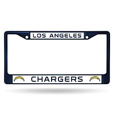 NFL Navy Chrome License Plate Frame - Chargers